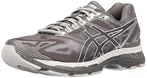 ASICS Men's Gel-Nimbus 19 Running Shoe, Carbon/White/Silver, 8.5 M US