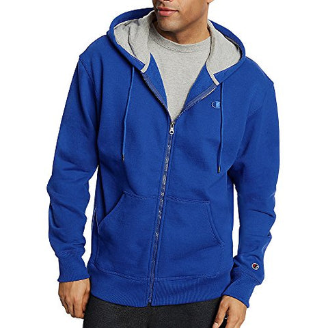 Champion Men's Powerblend Fleece Full Zip Jacket_Surf The Web_2XL