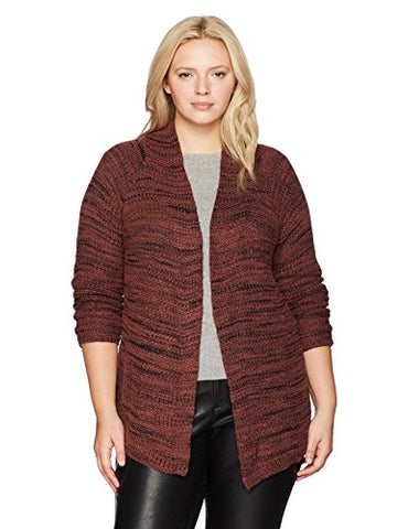 NIC+ZOE Women's Plus Size Thick and Thin Cardy, Tamarind, 2X