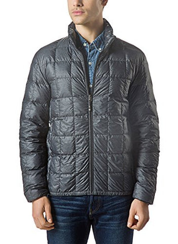 XPOSURZONE Men Packable Down Quilted Puffer Jacket SH.Charcoal Melange Lightweight Puffer Coat M