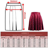 AISKLY Fish Scales Skirts Women Casual Cute Above Knee Mini Flared Skater skirt, YL-2001, Small