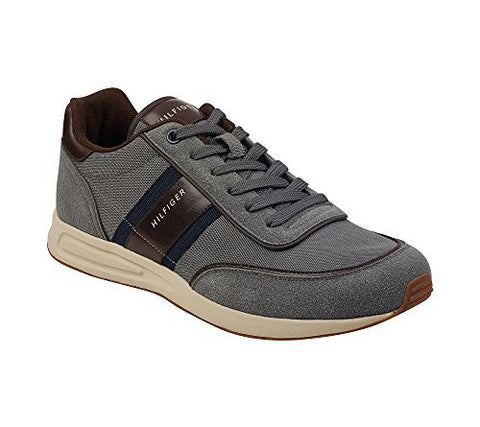 Tommy Hilfiger Men's Link Sneaker, Grey, 9 Medium US
