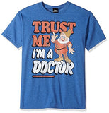 Disney Men's Seven Dwarfs Trust Me I'm a Doc Graphic T-Shirt, Royal Heather, 3XL