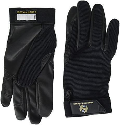 Heritage Performance Gloves, Size 8, Black
