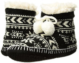 Muk Luks Women's Slipper Booties, Black, Small / Medium