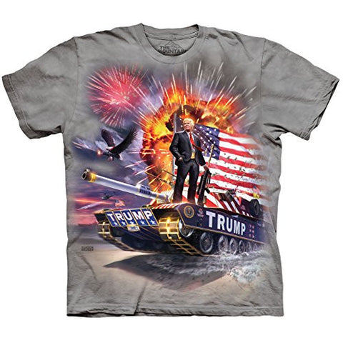 The Mountain Men's the Epic Trump Adult T-Shirt, Grey, X-Large