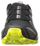 Salomon Men's Speedcross 4 Trail Runner, Black/Everglade/Sulphur, 14 M US