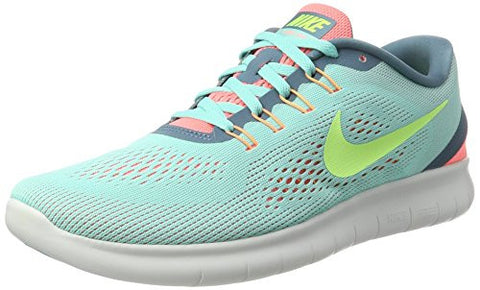 Nike Free RN Running Shoe - US Women Sizes : 9.5, Couleurs : Hyper Turq/Ghost Green-Lava Glow