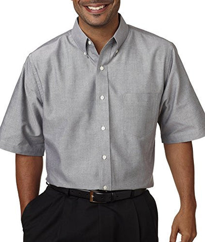 ULTRACLUB 8972 UltraClub® Men's Classic Wrinkle-Free Short-Sleeve Oxford 8972-simple
