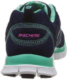 Skechers Flex Appeal Pretty City Womens Sneakers Navy/Aqua 7