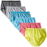 Fruit of the Loom Women's 6 Pack Beyond Soft Brief Panties, Assorted, 10
