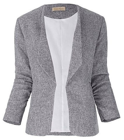 Kate Kasin Women's Office Jacket Slim Fit Blazer Coats M KK470-1