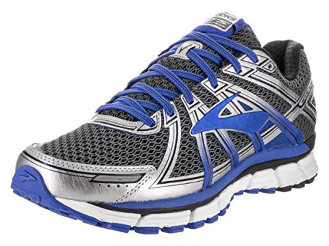 Brooks Men's Adrenaline GTS 17 Wide Anthracite/Electric Brooks Blue/Silver Running Shoe 11 2E Men US