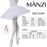 MANZI 3 Pairs Women's Girls' Basic Convertible Transition Ballet Dance Tights
