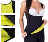 Womens Slimming Sweat Vest Hot Neoprene Body Shapers Tummy Fat Burner Sweat Tank Top for Weight Loss No Zip, Black, Medium