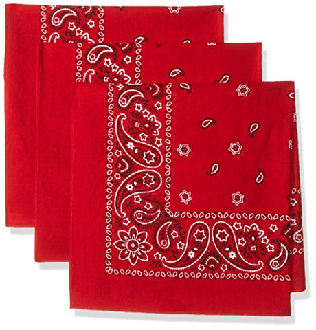 Levi's Men's Printed Bandana Set,Red,One Size