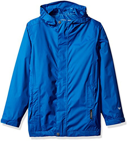 White Sierra Youth Trabagon Rain Shell, Imperial Blue, Medium