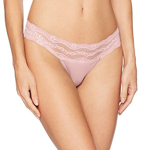 b.tempt'd by Wacoal Women's B Adorable Thong Panty, Pink Parfait, M