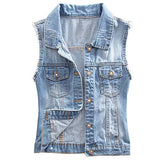 Eternal Women Winter Spring Cotton Sleeveless Jeans Denim Vest Jacket Outerwear Clothes (M, Vest-1)