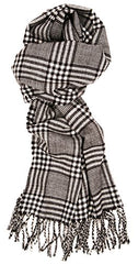 Love Lakeside-Men's Cashmere Feel Winter Plaid Scarf (One, 22B-20 Black and White)