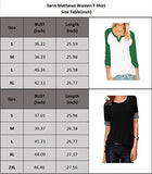 Sarin Mathews Women's Casual Round Neck Loose Fit Short Sleeve T-Shirt Blouse Tops Black M
