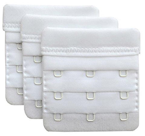 "Chanie Women Pack of 3 Soft Comfortable 3 Hooks Bra Extender,2.4""x 2.3"""