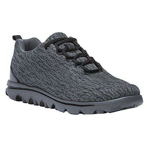 Propet Women's Travelactiv Oxford, Black/Grey Heather, 11 4E US