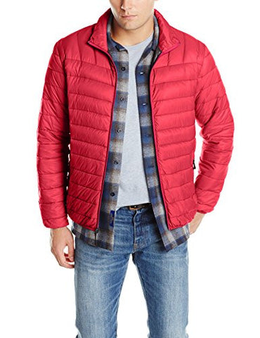Hawke & Co Men's Packable Down Puffer Jacket II, Chilli Pepper, Large