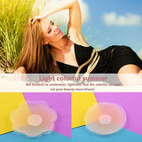 Woman Silicone Pasties, Adhesive Bra Reusable 4 Pair Invisible Silicone Nipple Cover