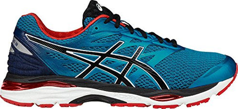 ASICS Men's Gel-Cumulus 18 Running Shoe, Island Blue/Black/Vermilion, 11 M US