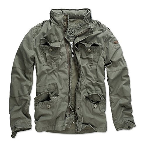 Brandit Men's Britannia Vintage Military M65 Style Short Army Lightweight Jacket Medium Olive