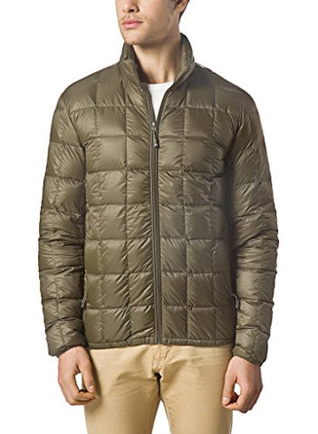 XPOSURZONE Men Packable Down Quilted Puffer Jacket Lightweight Puffer Coat Olive Night S