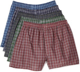 Fruit of the Loom Men's  Tartan Boxer, Assorted, Large(Pack of 5)