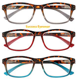 Reading Glasses 3 Pair Great Value Stylish Readers Fashion Men and Women Glasses for Reading +1.5