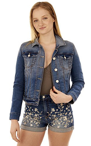 WallFlower Juniors Basic Dreamer Denim Jacket in Tessa Size:JXL