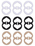 9 Piece Bra Strap Clips - Racer Back - Conceal Straps - Cleavage Control