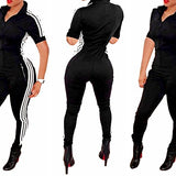 Bodycon4U Women Lycra Spandex Zentai Long Sleeve Unitard Bodysuit Jumpsuit (XXL, ShortSleeve-black)
