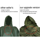 JTENG Waterproof Ripstop Hooded US PVC Camouflage Rain Poncho
