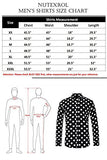 Nutexrol Men's Print Woven Long Sleeve Dress Shirt Premium Cotton Casual Shirts Black Star X-Large