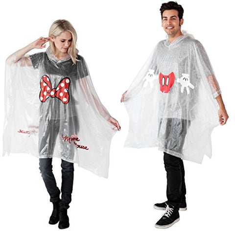 Disney Mickey & Minnie Parts Rain Poncho (Adult, 2-pack Mickey & Minnie)