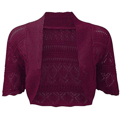 Burgundy Bolero In US Size 12/14