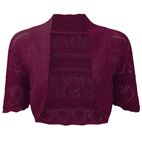 Burgundy Bolero In US Size 16/18