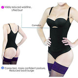 Camellias Women Seamless Firm Body Control Bodysuit Thong Body Shaper Slimmer Shapewear Black , SZ7095-Black-L