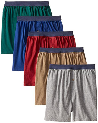 Hanes Men's 5-Pack Red Label FreshIQ Comfortsoft Boxer with ComfortFlex Waistbands, Assorted, Medium