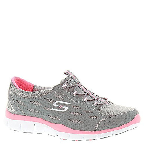 SKECHERS Women's Gratis - Full-Circle Gray Pink Oxford