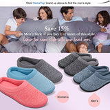 HomeTop Women's Comfort Slip On Memory Foam French Terry Lining Indoor Clog House Slippers (M /7-8 B(M) US, Light Gray)