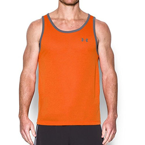 Under Armour Men's UA Threadborne Tank Top Team Orange Tank Top