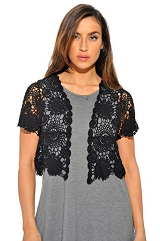 401147-BLK-2X Just Love Bolero Shrug / Women Cardigan