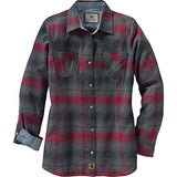 Legendary Whitetails Ladies Cottage Escape Flannel (Medium, Lumberjack Ombre Plaid)