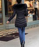 Mojessy Women's Parka Winter Coat Overcoat Long Down Jacket Outwear XXXX-Large Black
